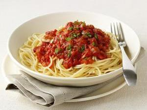 Pasta with Fresh Tomato Sauce Healthy Recipe