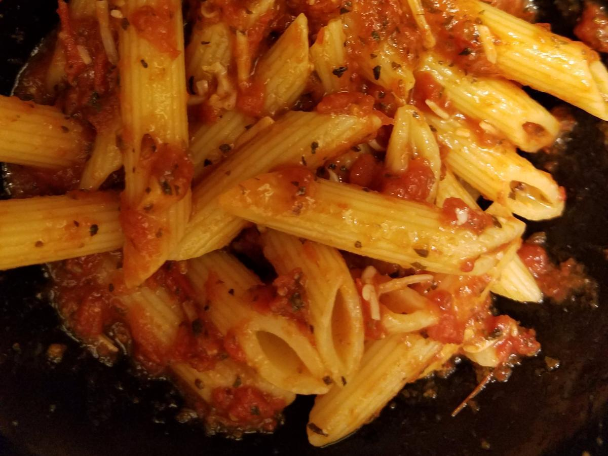 Pasta with Marinara Sauce Healthy Recipe