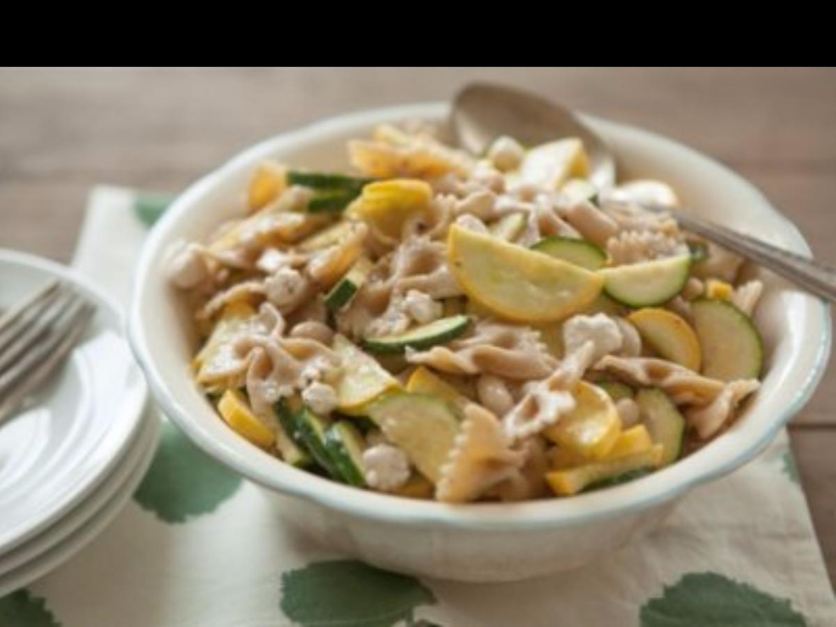 Pasta with White Beans and Summer Squash Healthy Recipe