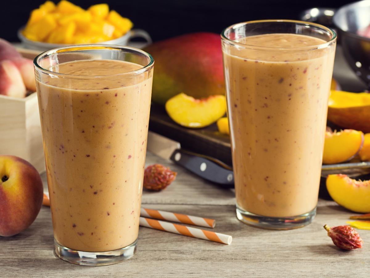 Peach Mango Orange Smoothie Healthy Recipe