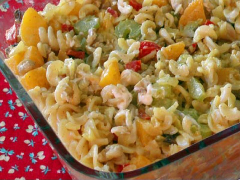 Peach Noodle Salad Healthy Recipe