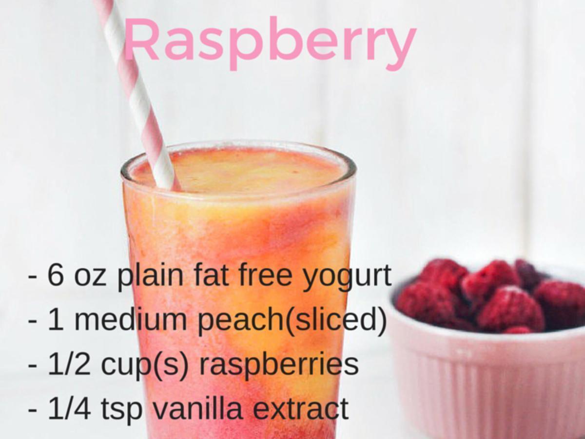 Peach Raspberry Smoothie Healthy Recipe
