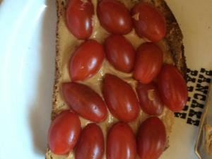 Peanut butter and Tomato Toast Healthy Recipe