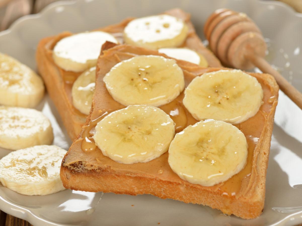 Peanut Butter Banana Toast Healthy Recipe