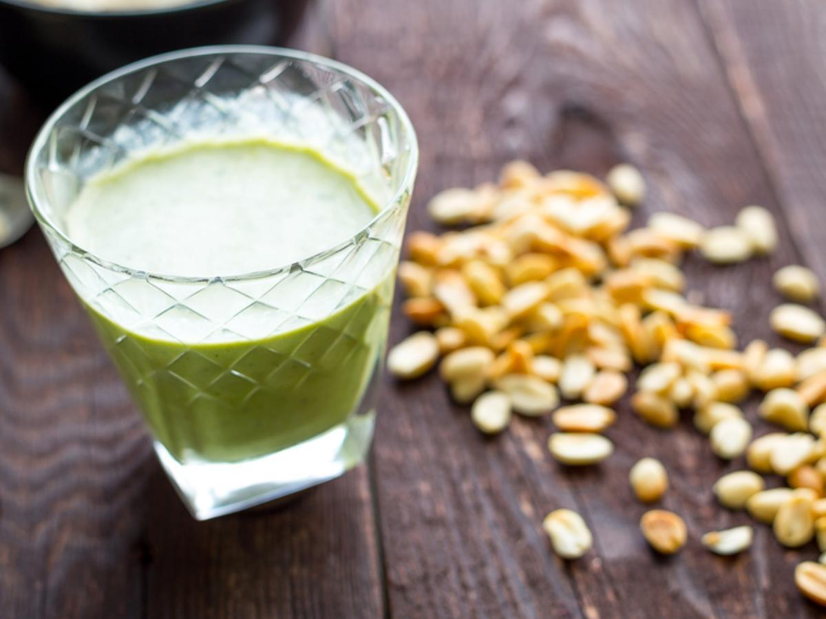 Peanut Butter Spinach Smoothie Healthy Recipe