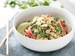 Peanut Noodles With Napa Cabbage Healthy Recipe