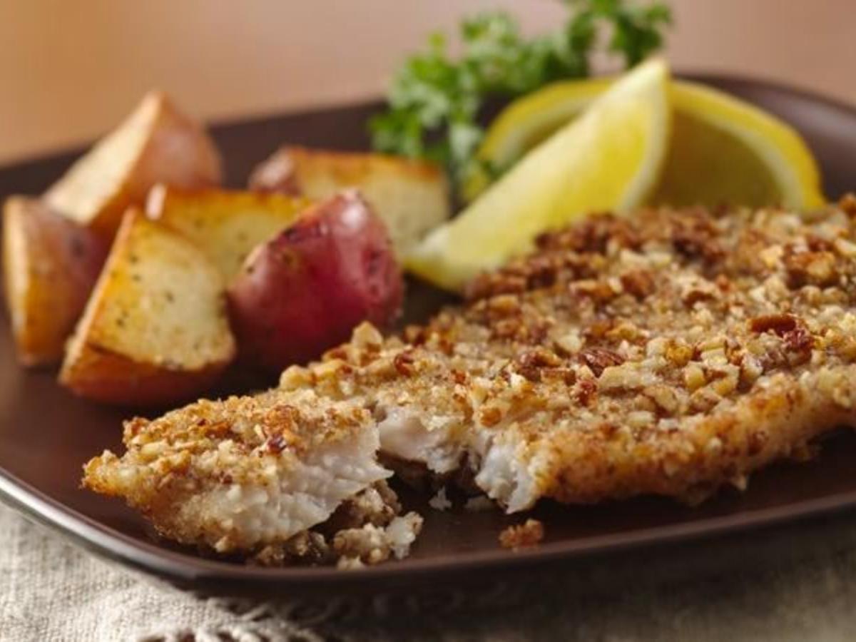 Pecan Crusted Tilapia Healthy Recipe