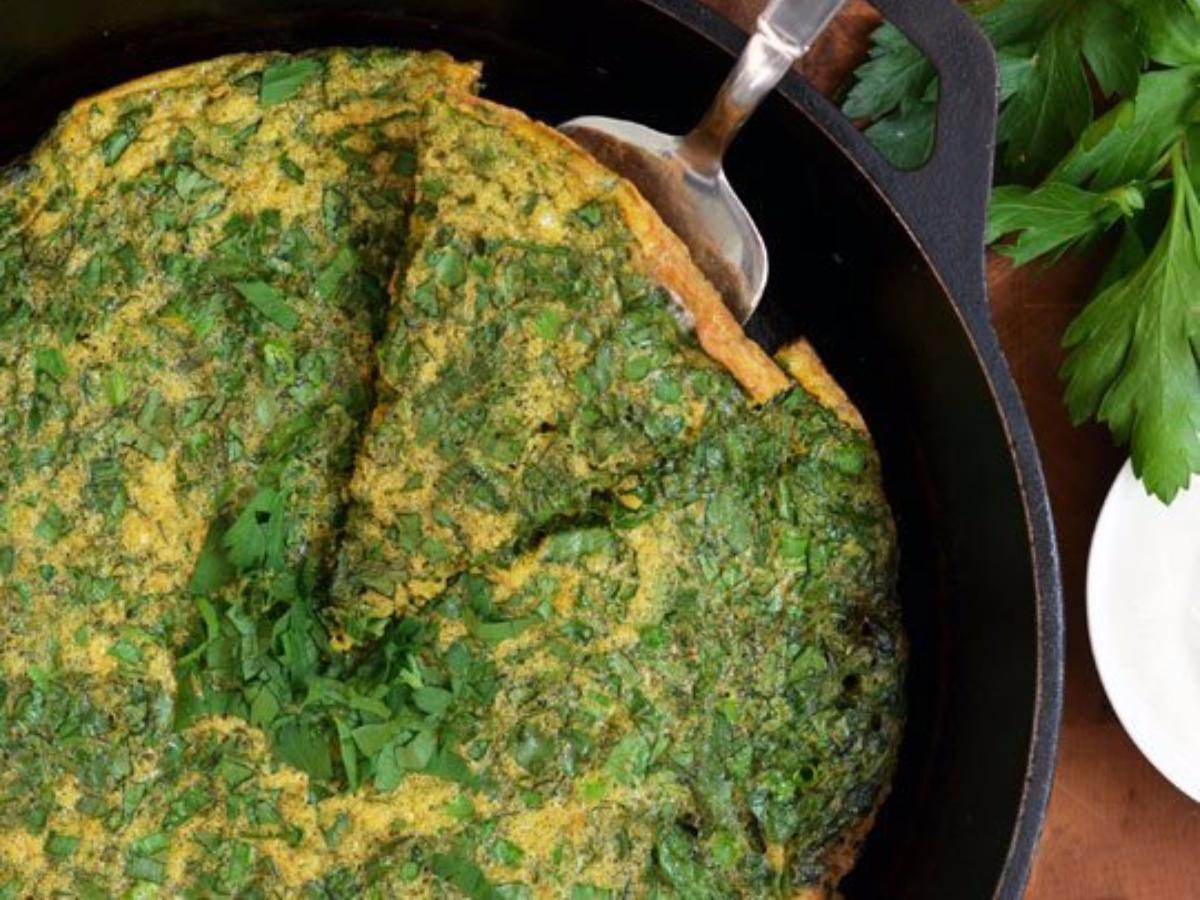 Persian Herb Frittata Healthy Recipe