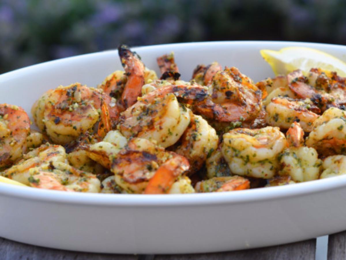 Pesto Grilled Shrimp Healthy Recipe