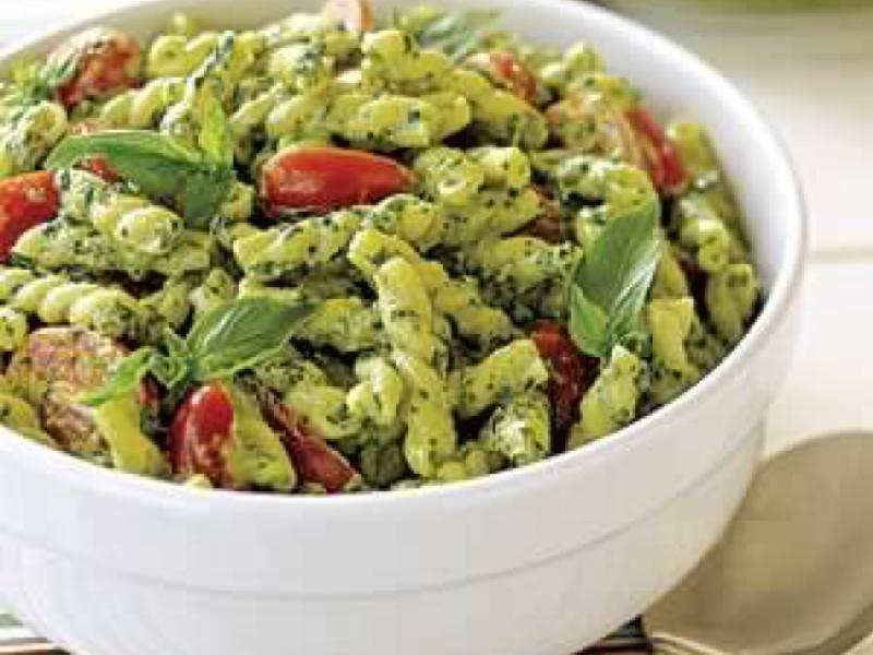 Pesto Pasta Salad Healthy Recipe