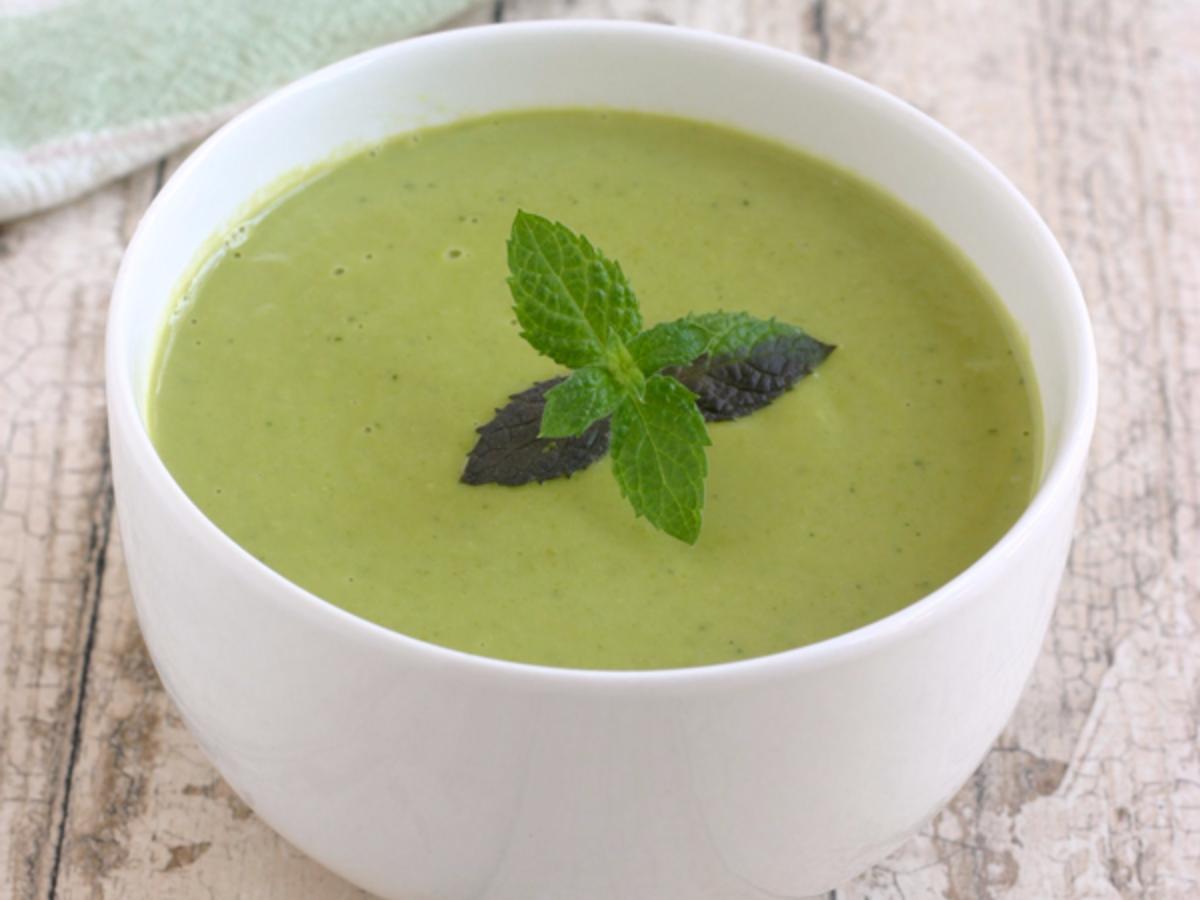 Pesto Pea Soup Healthy Recipe