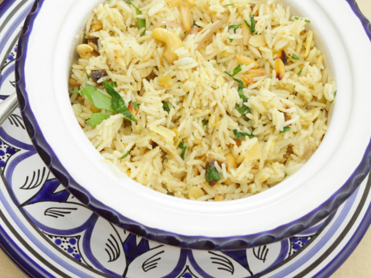 Pine Nut and Basil Rice Healthy Recipe