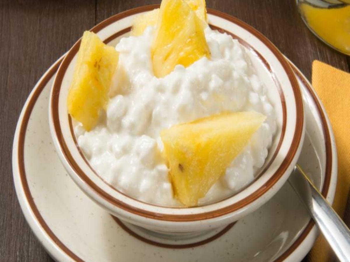 Pineapple Cottage Cheese with Lime Healthy Recipe