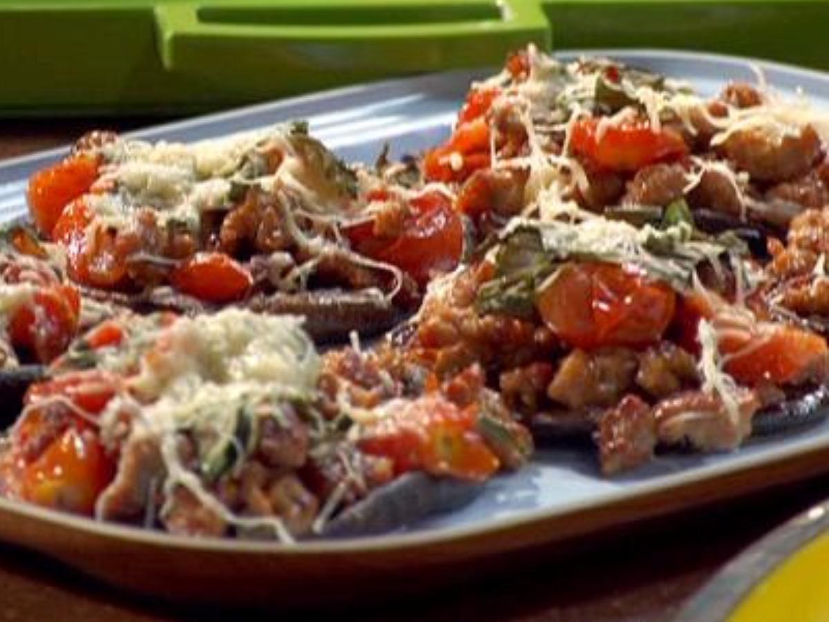 Portobello Sausage Pizzas Healthy Recipe