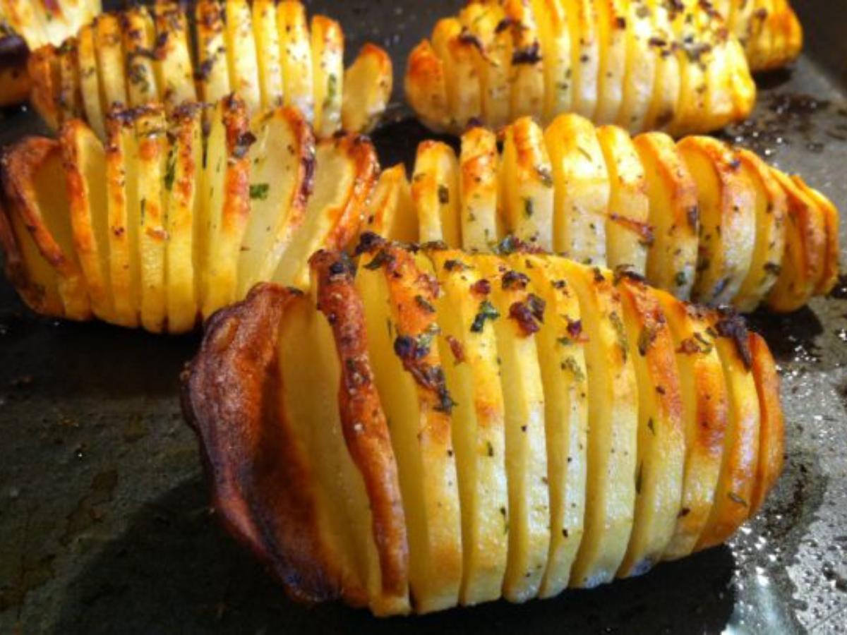 Potato Accordion Healthy Recipe