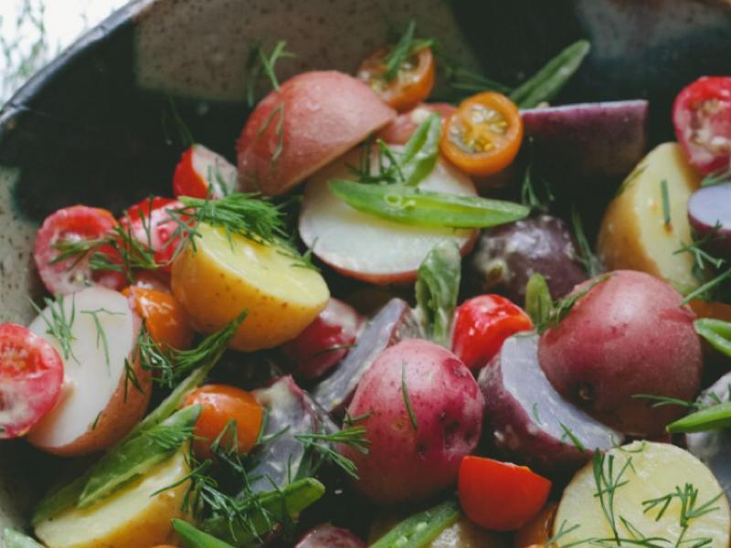 Potato Salad with Dill and Horseradish Aioli   Healthy Recipe