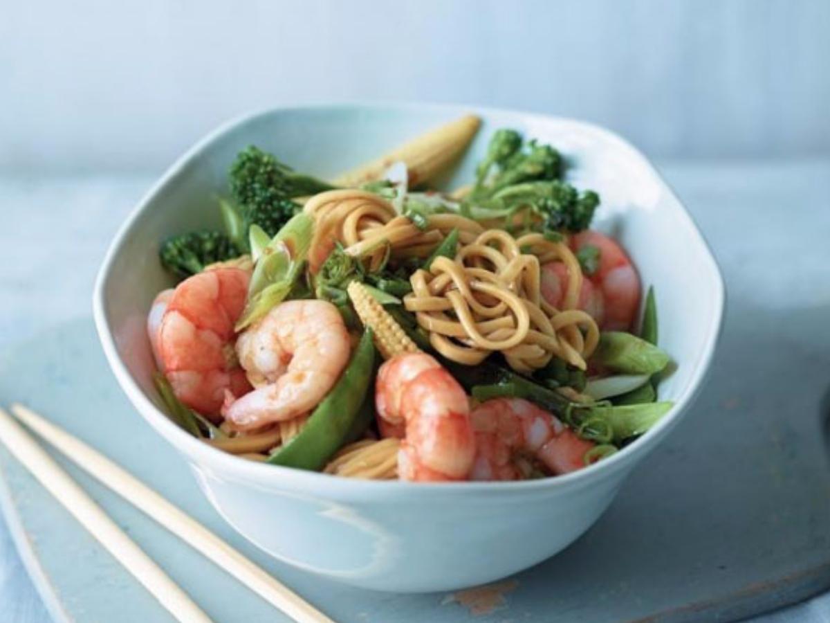 Prawn and Noodle Stir-fry Healthy Recipe
