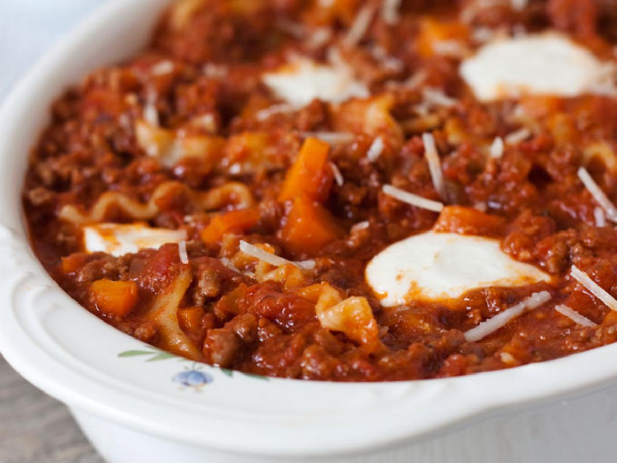 Pressure Cooker Sloppy Lasanga Healthy Recipe