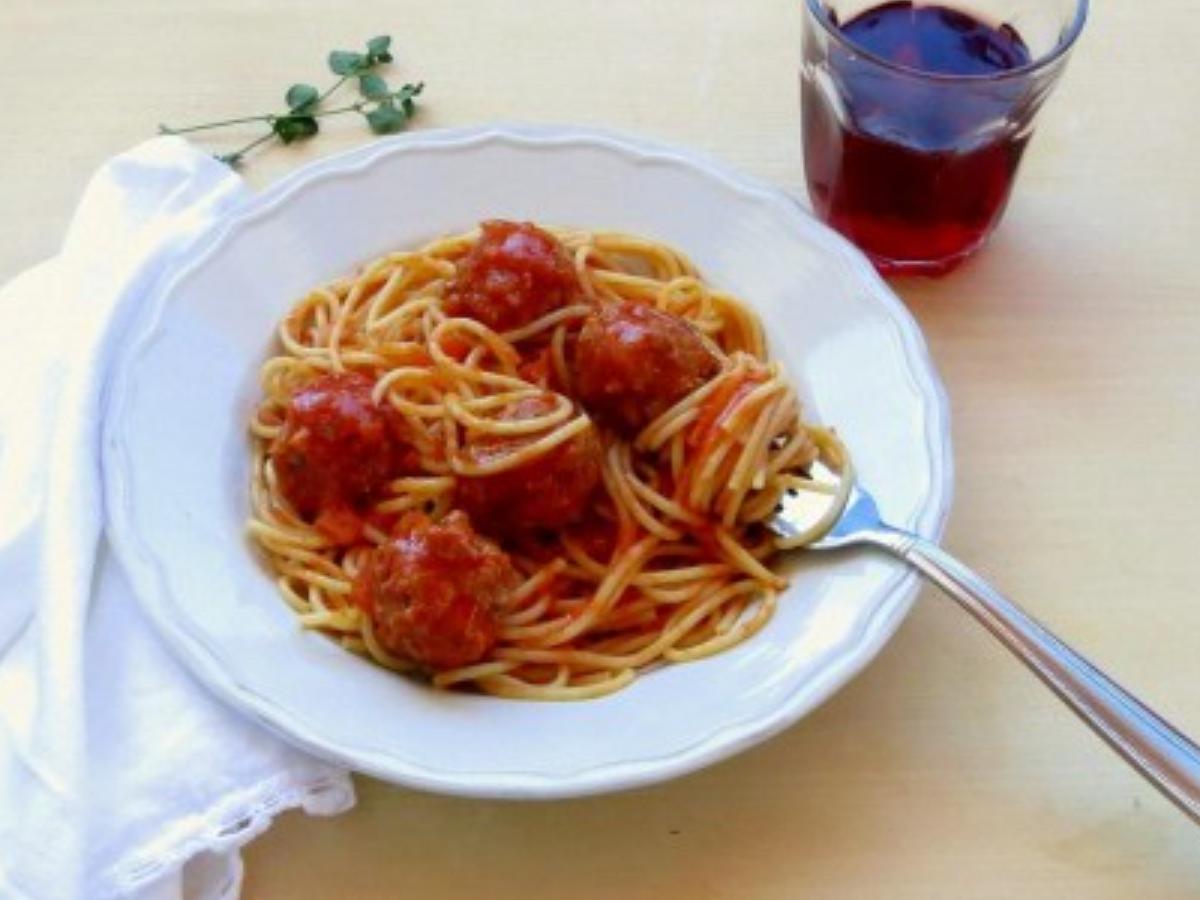 Pressure Cooker Spaghetti and Meatballs Healthy Recipe