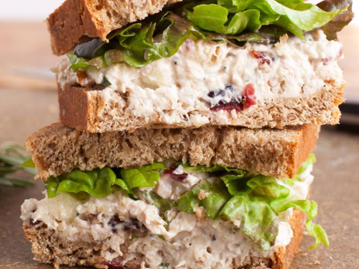 Quick and Easy Chicken Salad Sandwich Healthy Recipe