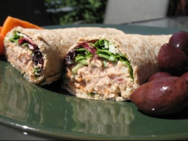 Quick Salsa Tuna Wrap Healthy Recipe