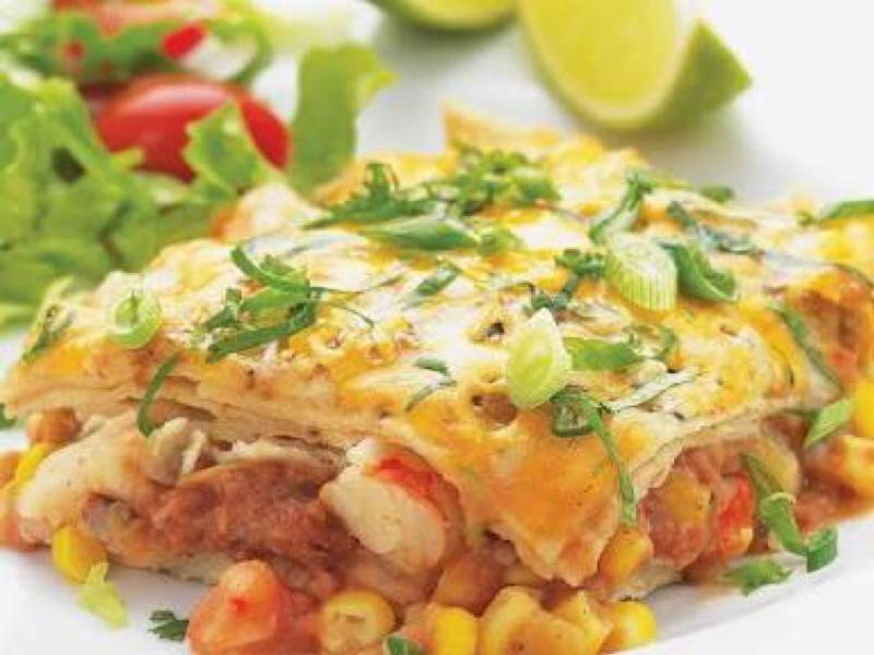 Quick Shrimp Enchilada Bake Healthy Recipe