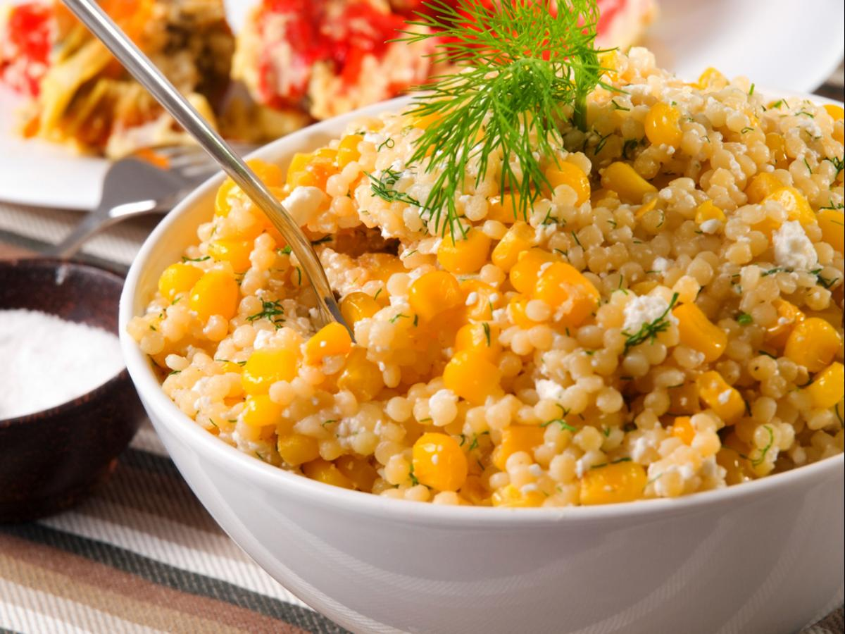 Quinoa with Corn, Scallions, and Mint Healthy Recipe