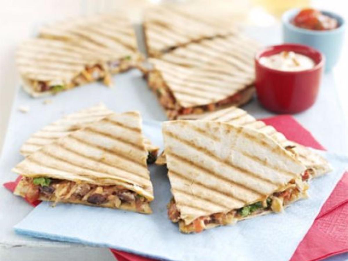 Refried Bean Quesadillas Healthy Recipe