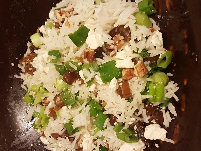 Rice, Spring Onion, and Feta Salad Healthy Recipe