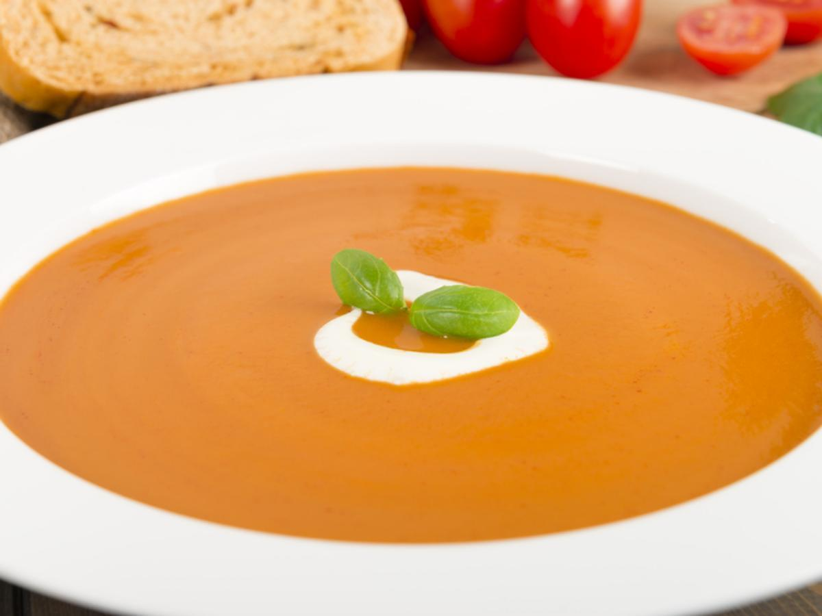 Rich and Creamy Tomato Basil Soup Healthy Recipe