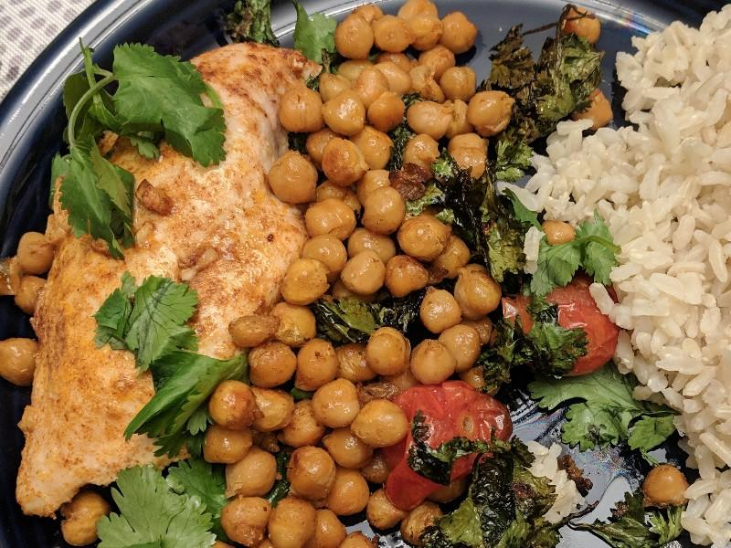 Roast Chicken with Garbanzo Beans, Tomatoes, And Paprika Healthy Recipe