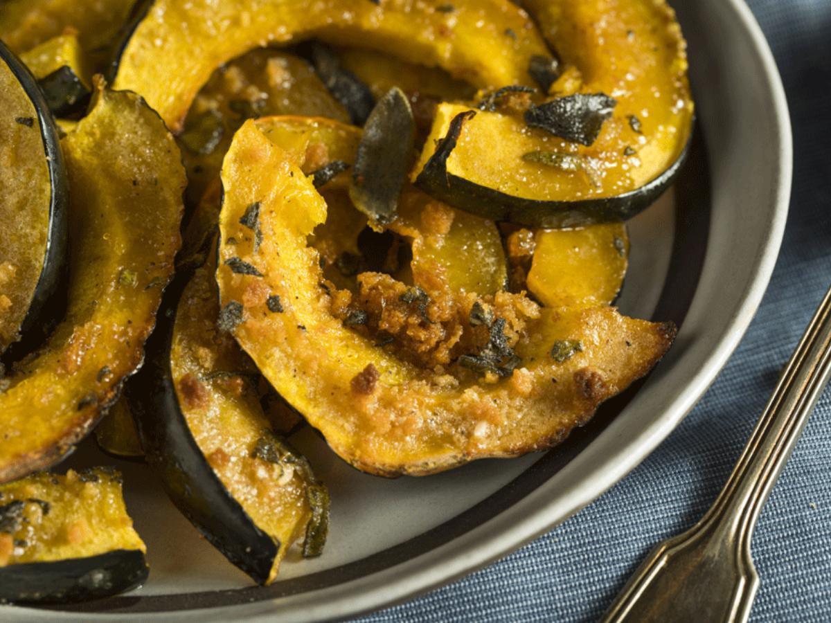 Roasted Acorn Squash with Chile Vinaigrette Healthy Recipe
