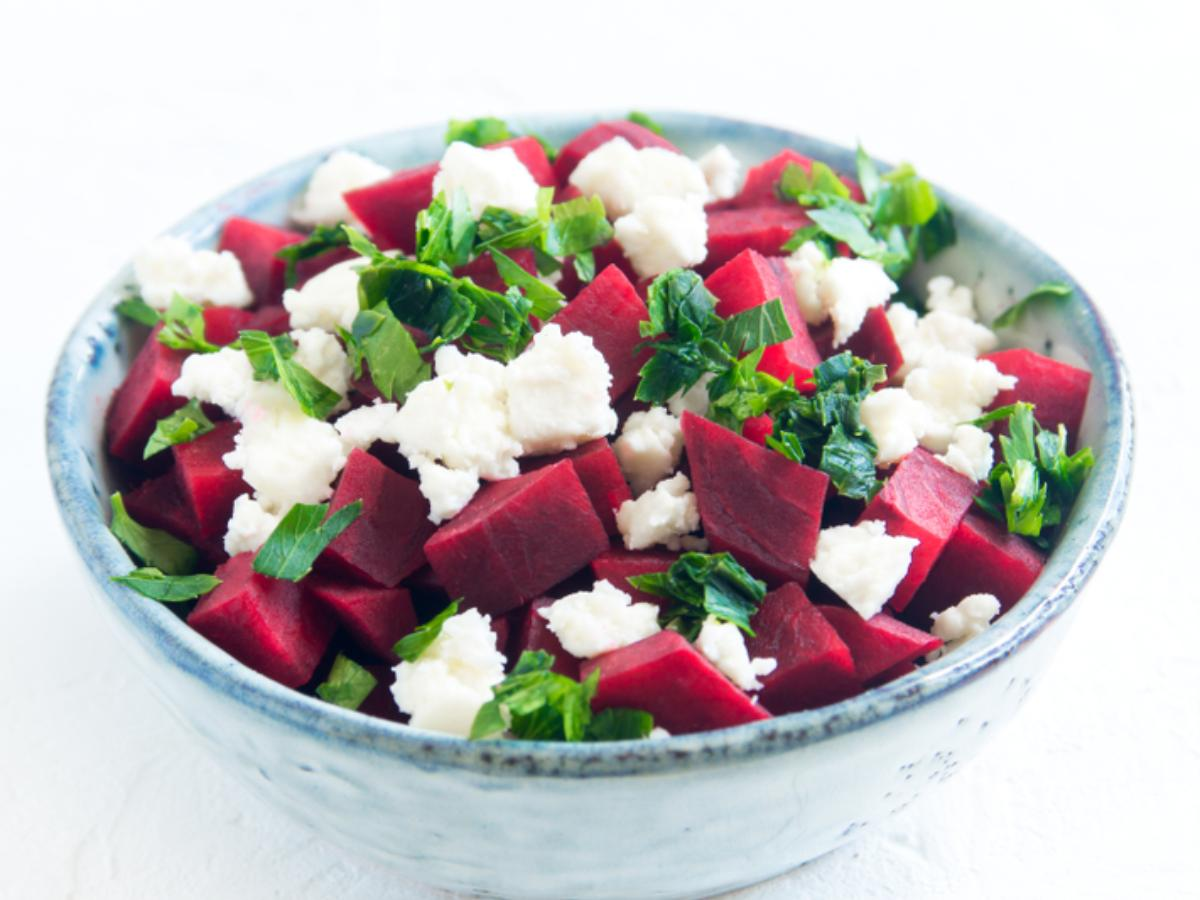 Roasted Beet and Feta Gratin with Fresh Mint Healthy Recipe