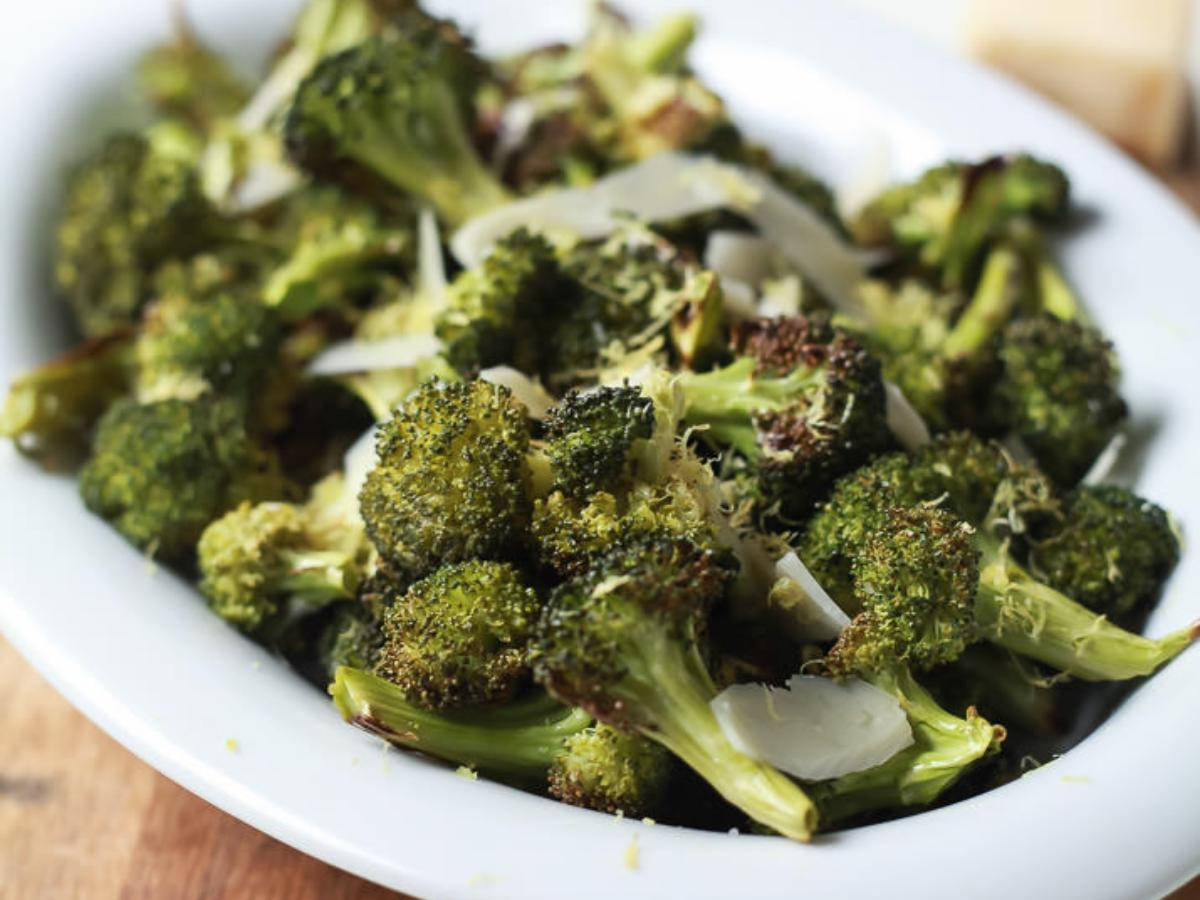 Roasted Broccoli with Parmesan Lemon Butter Sauce Healthy Recipe