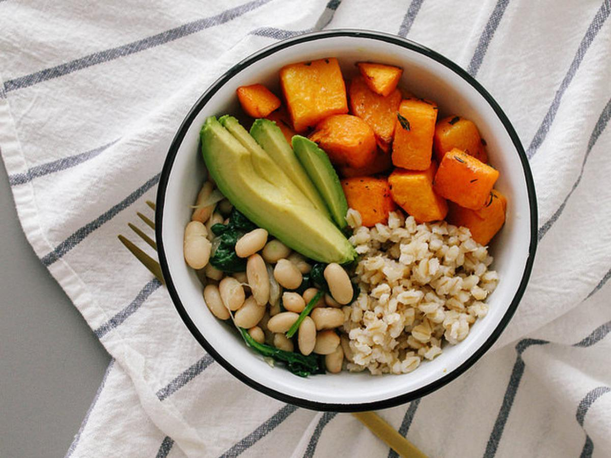 Roasted Butternut Squash, Beans and Barley Bowl Healthy Recipe