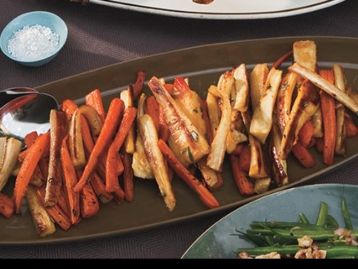Roasted Carrots and Parsnips with White Balsamic Healthy Recipe