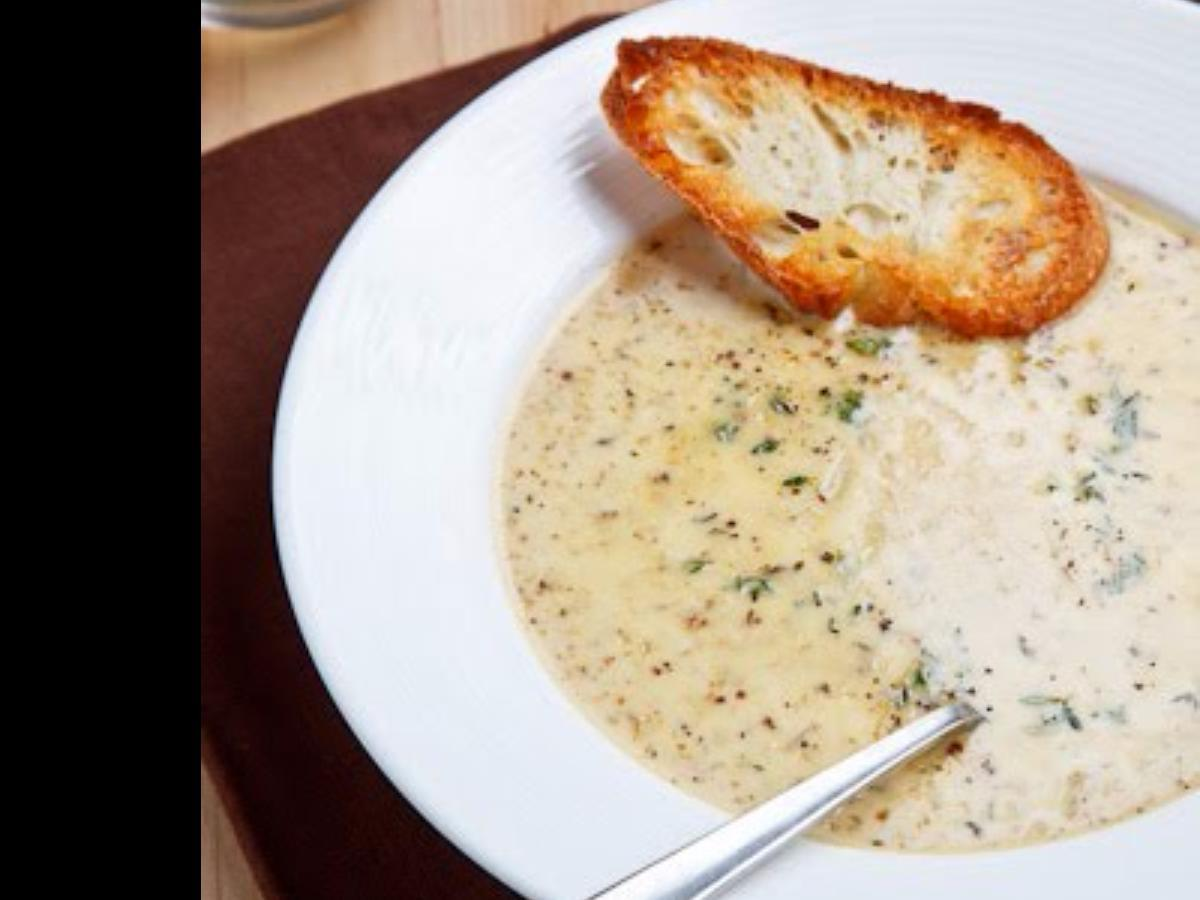 Roasted Cauliflower and Aged Cheddar Soup Healthy Recipe