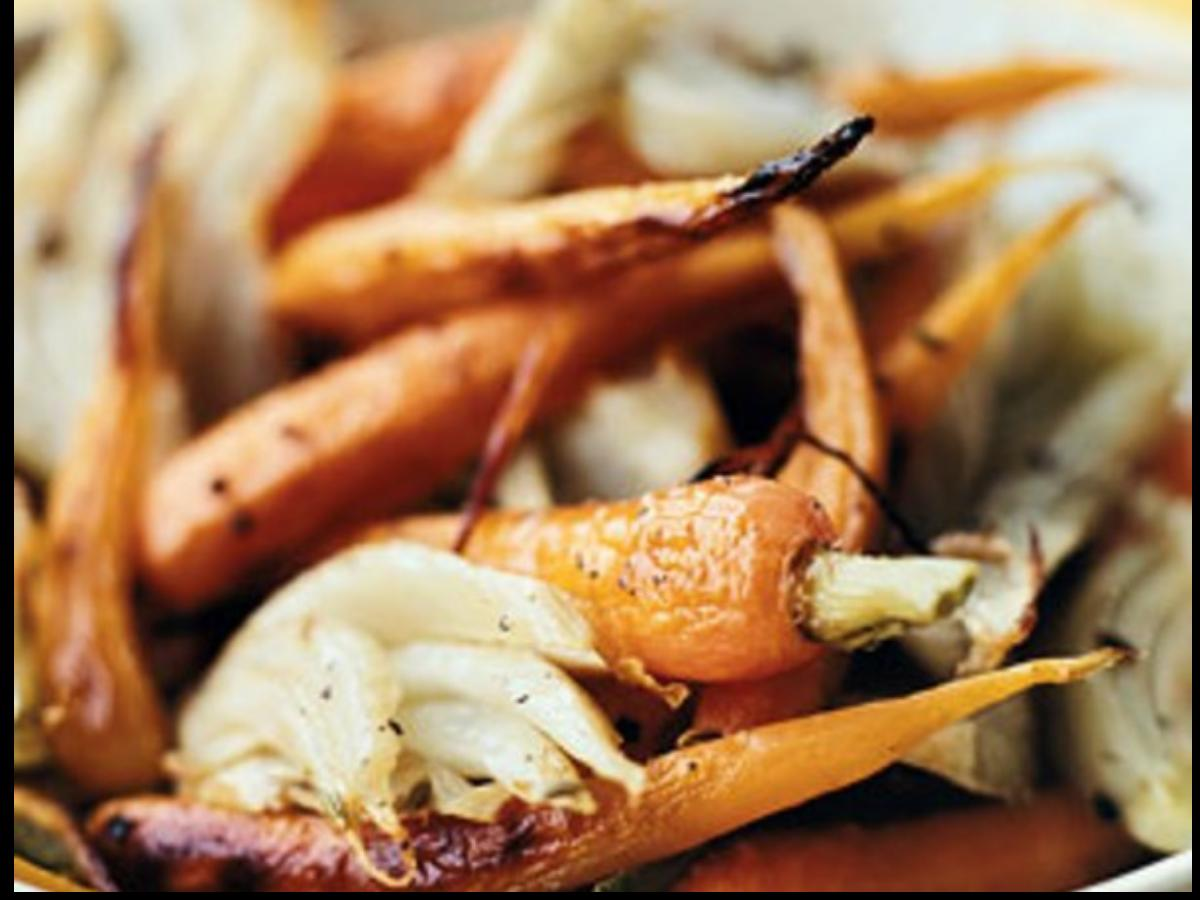 Roasted Fennel and Baby Carrots Healthy Recipe
