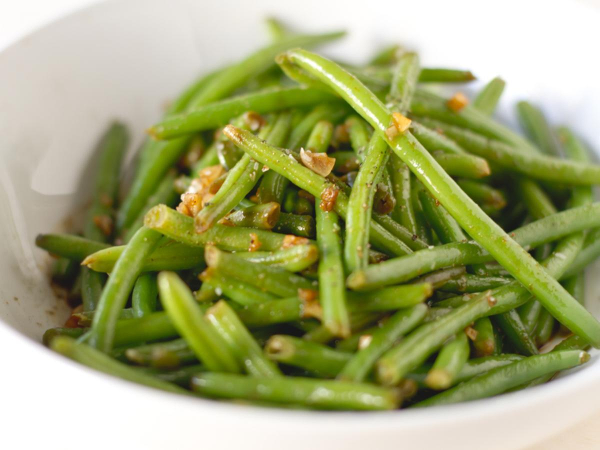 Roasted Green Beans with Fresh Garlic Healthy Recipe