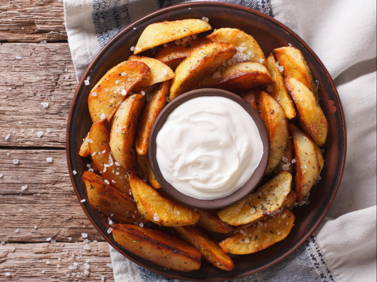Roasted Potato Wedges with Cilantro-Lime Mayonnaise Healthy Recipe