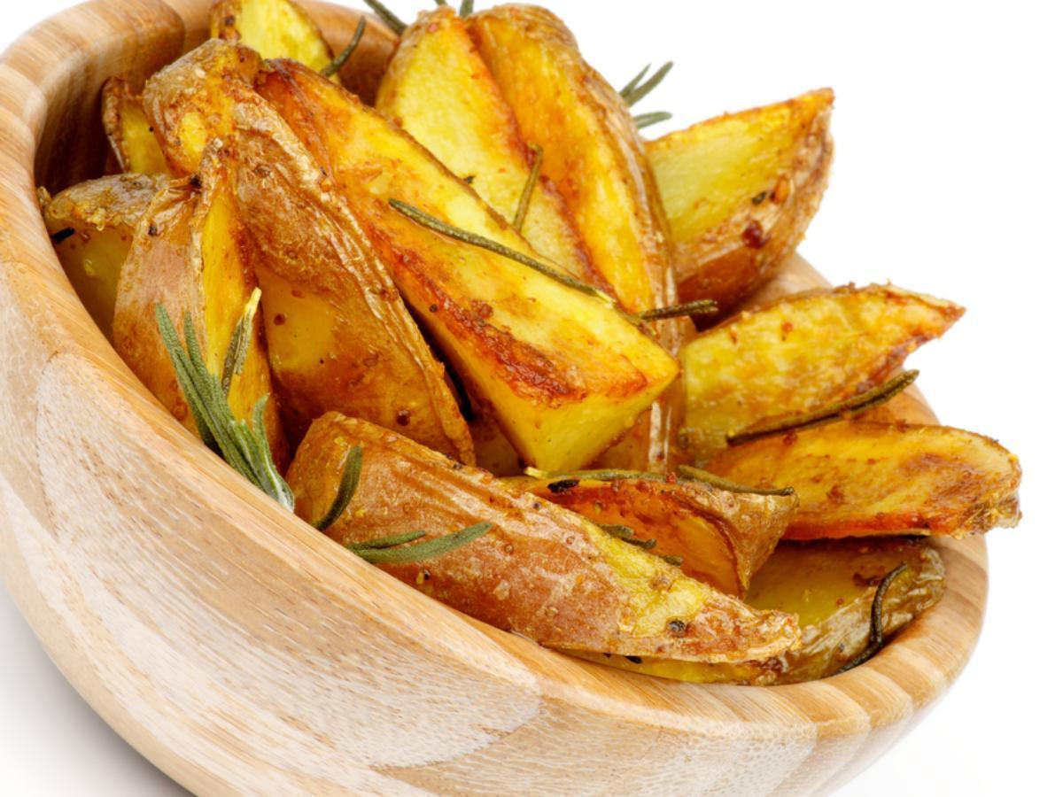 Roasted Potato Wedges with Rosemary Butter Healthy Recipe