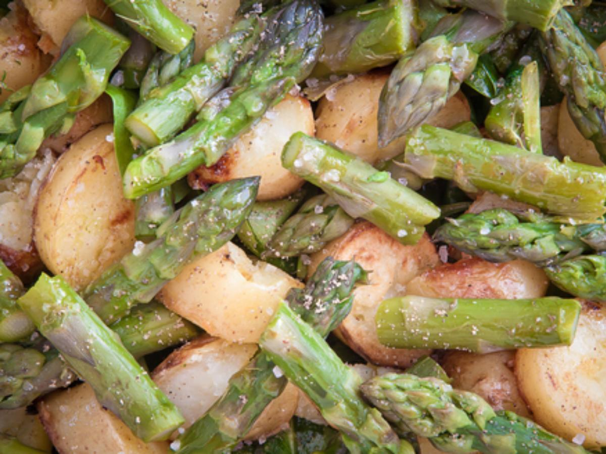 Roasted Potatoes and Asparagus with Parmesan Healthy Recipe