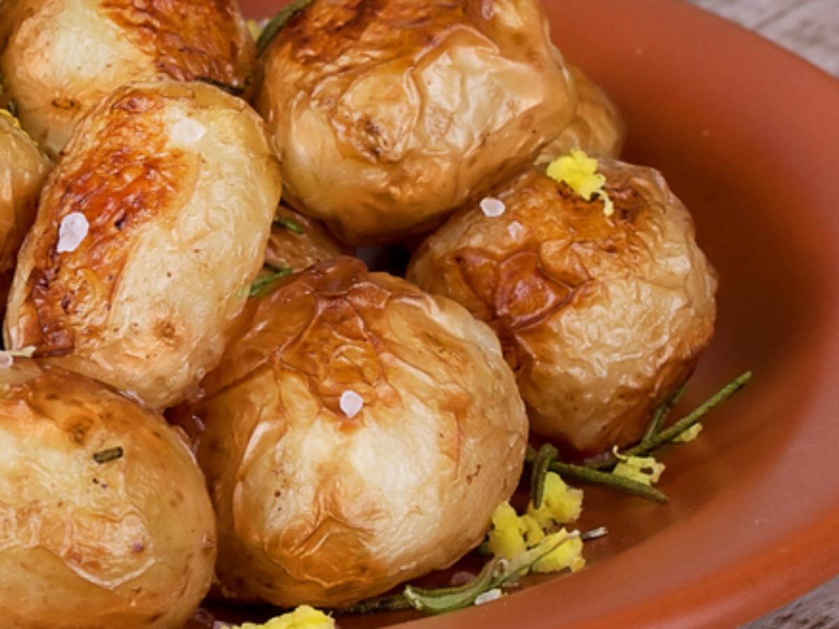 Roasted Potatoes with Lemon Salt Healthy Recipe