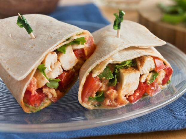 Roasted Red Pepper Chicken Wrap Healthy Recipe