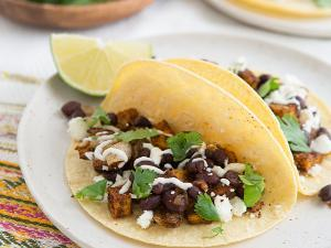 Roasted Sweet Potato and Black Bean Tacos Healthy Recipe