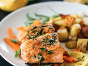 Salmon en Papillote Healthy Recipe