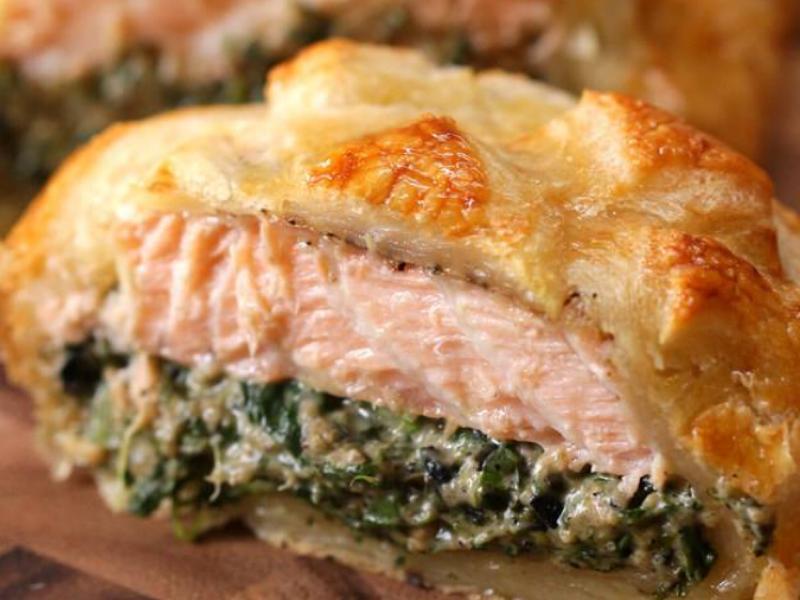 Salmon Wellington Healthy Recipe