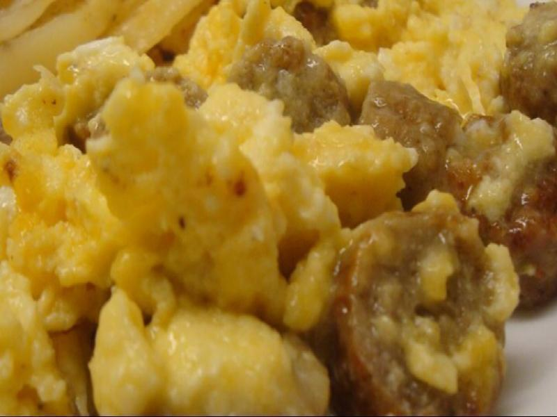 Sausage, Egg, and Cheese Scramble Healthy Recipe