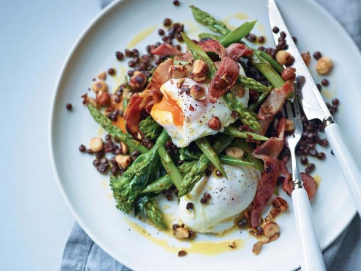Sautéed Broccoli and Asparagus with Eggs  Healthy Recipe