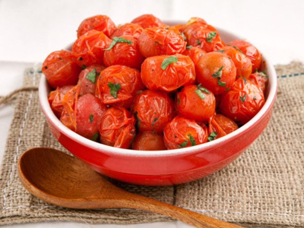 Sautéed Cherry Tomatoes with Garlic and Basil Healthy Recipe